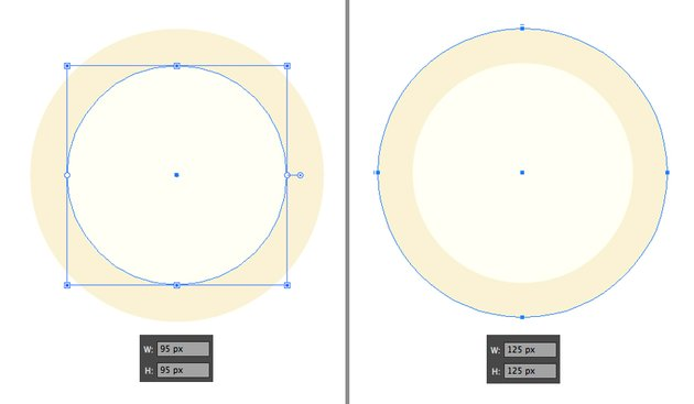 make the clock face from ellipse