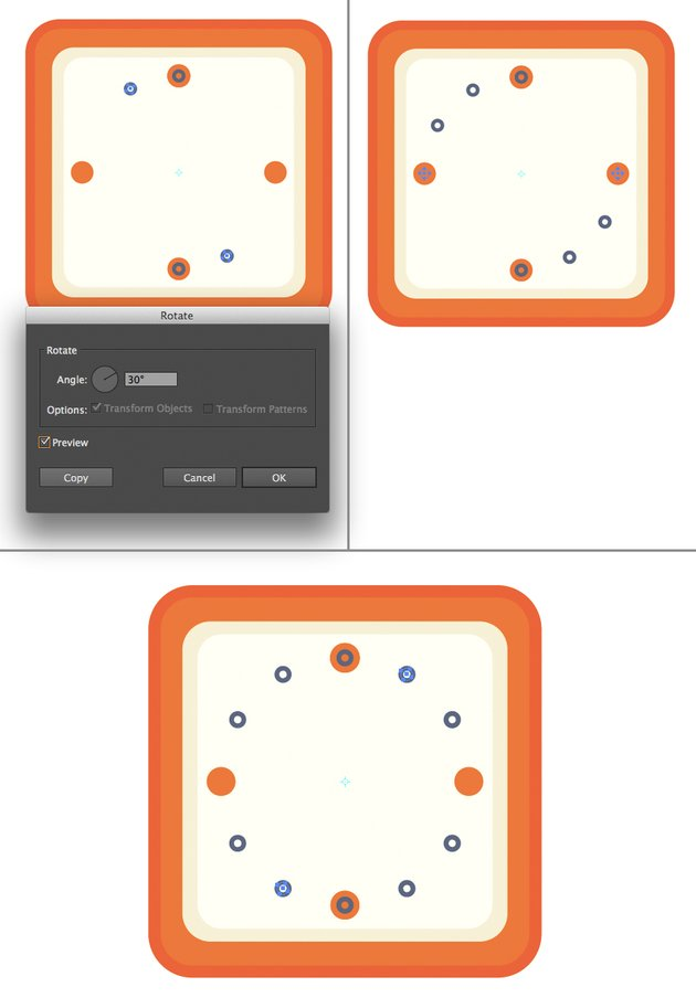 use the rotate tool to add more circles