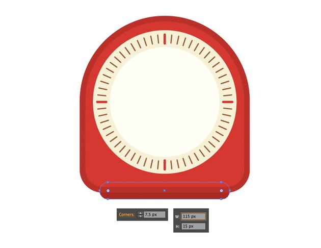 add a rectangular stand to the clock