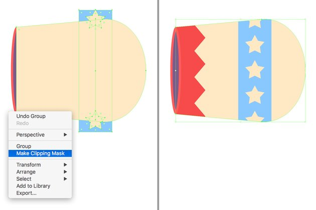 use a Clipping Mask to hide the unneeded parts