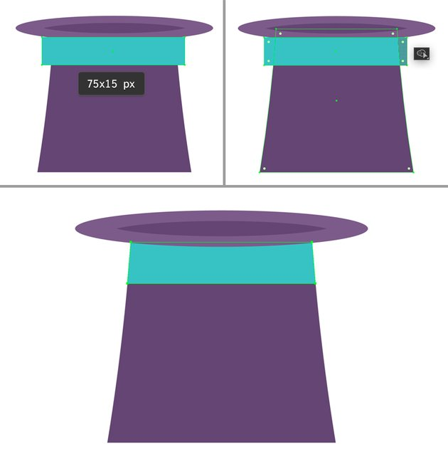 make a ribbon from rectangle