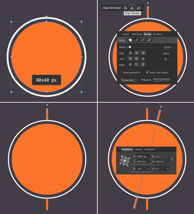make a sun icon from circle with strokes 1