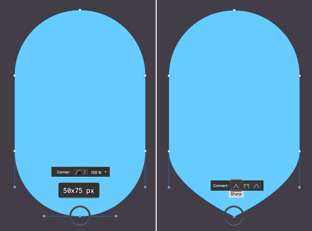 make a shield from rounded rectangle