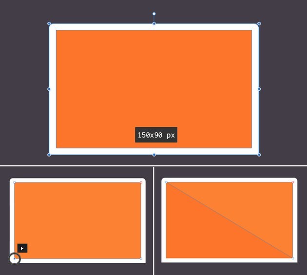 make the laptop display from rectangle 2