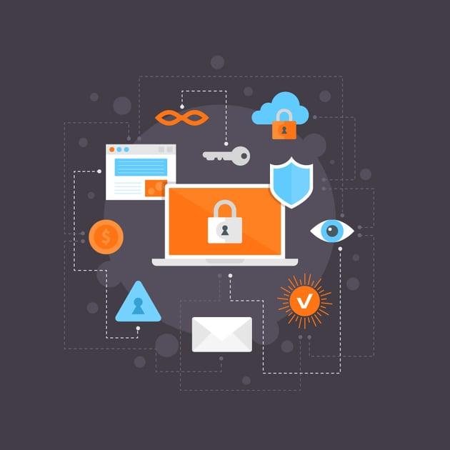 Flat Internet Security Illustration is Finished