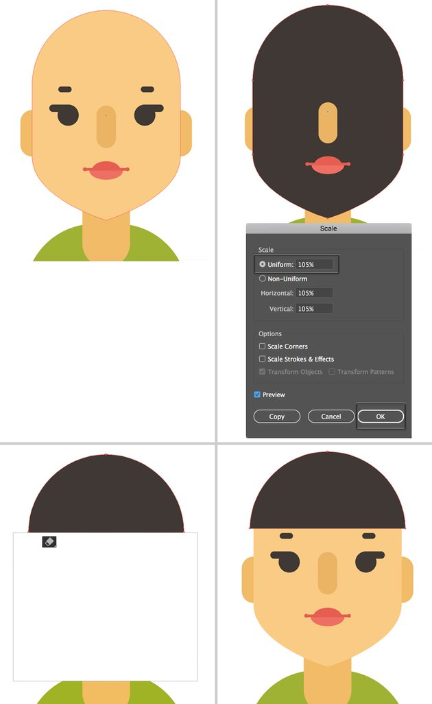 make a haircut from face shape copy