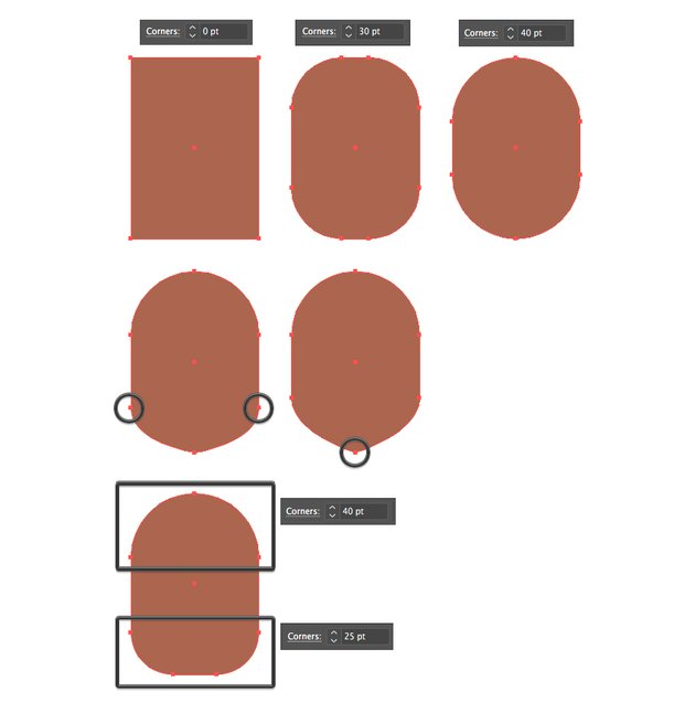 vary the face shapes made from rectangle
