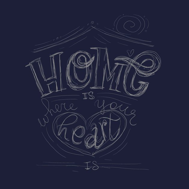 home lettering sketch