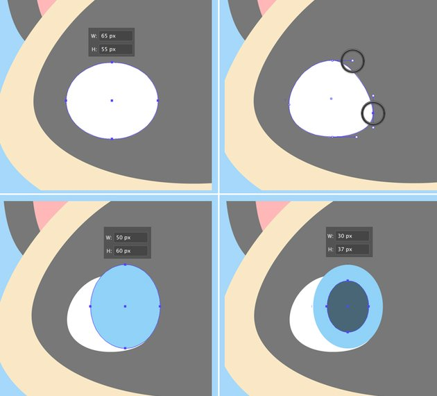make an eyeball from ellipse