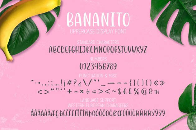 all the features of the font