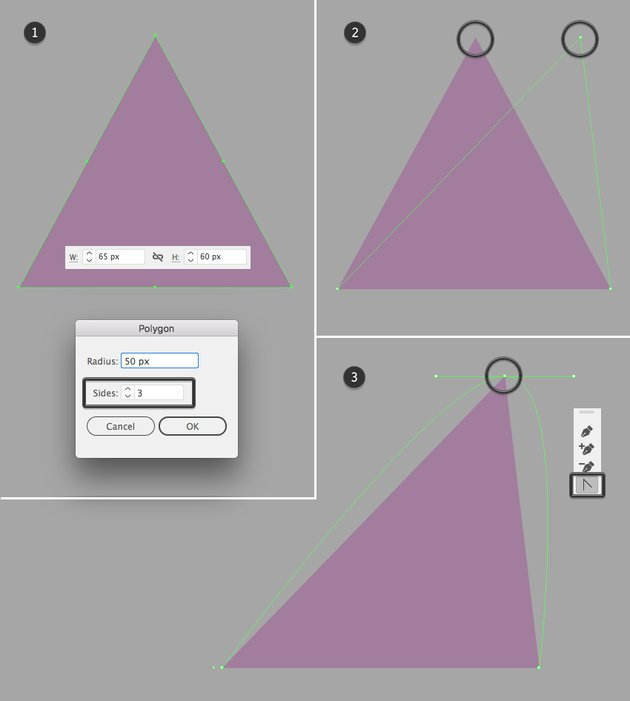 make an ear from a triangle 1
