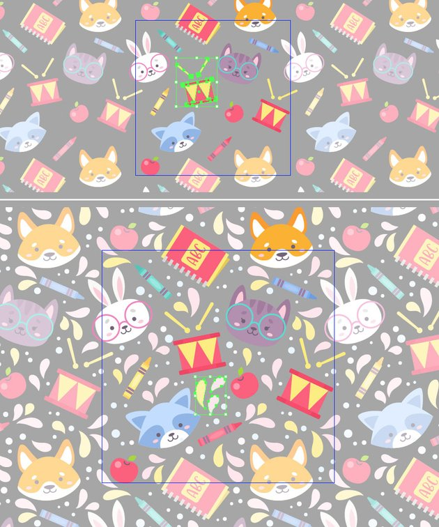 make a pattern with pattern tool 2