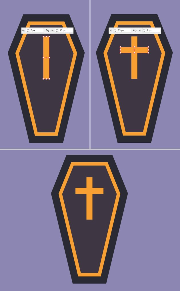make a cross from rectangles