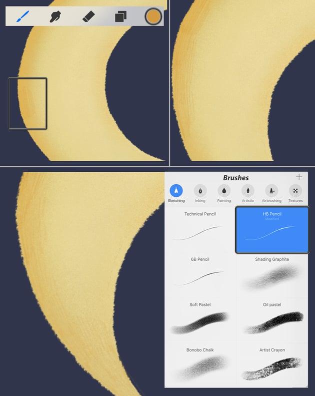 make pencil strokes