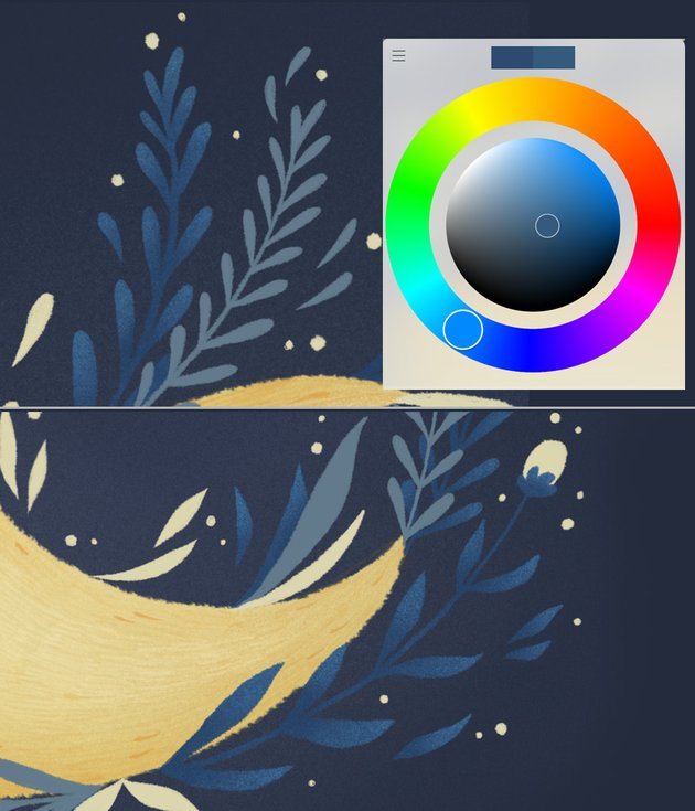 add texture to the leaves 2