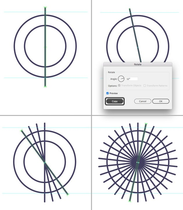 make a vertical line