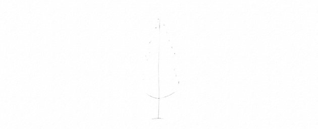 how to start drawing pine tree