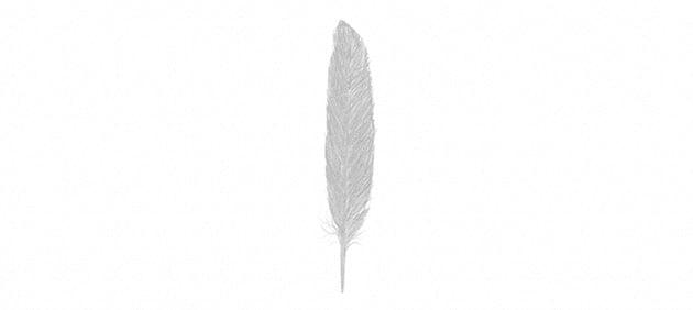 how to darken feather vane