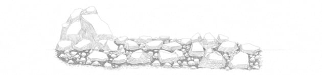 how to shade rocks with hard pencil