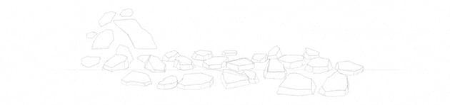 how to draw big rocks