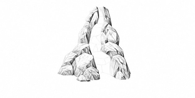 how to draw rocks