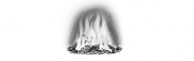 how to shade gray flames