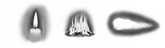 how to draw realistic fire with pencils