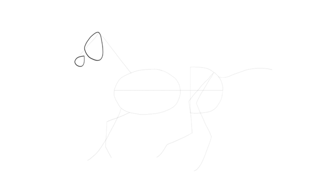 how to start drawing horse head
