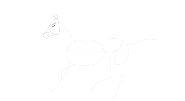 how to start drawing horse eye