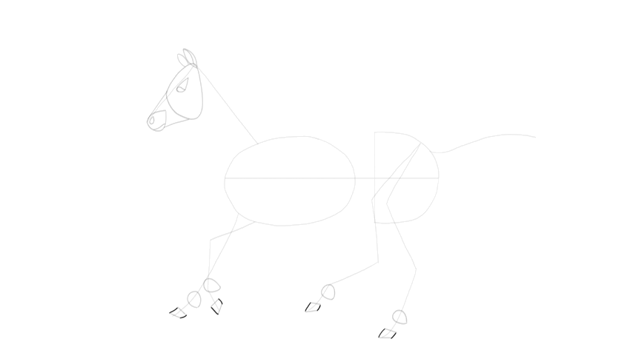 how to finish drawing horse hooves