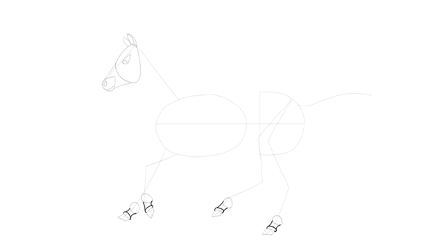 how to draw realistic horse hooves