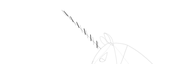 how to draw a spiral horn