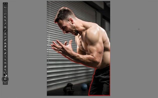 shirtless man shouting stock photo