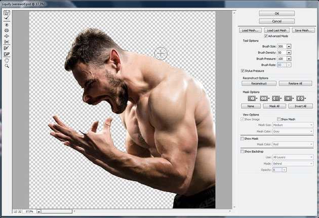 how to make human more muscular in photoshop