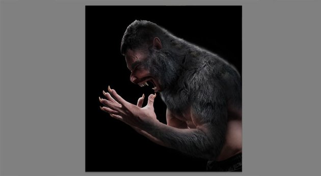 how to create a werewolf in photoshop