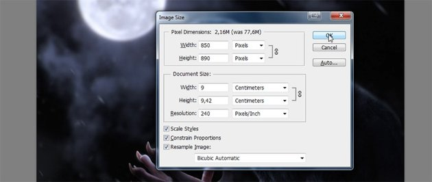 how to change image size