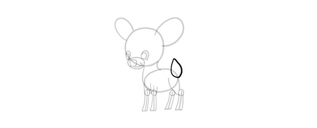 chibi deer tail