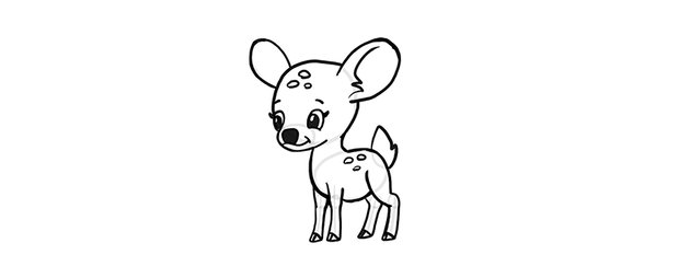 how to draw a chibi deer