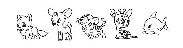 hoe to draw cute chibi animals