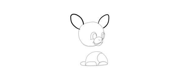 chibi giraffe ears