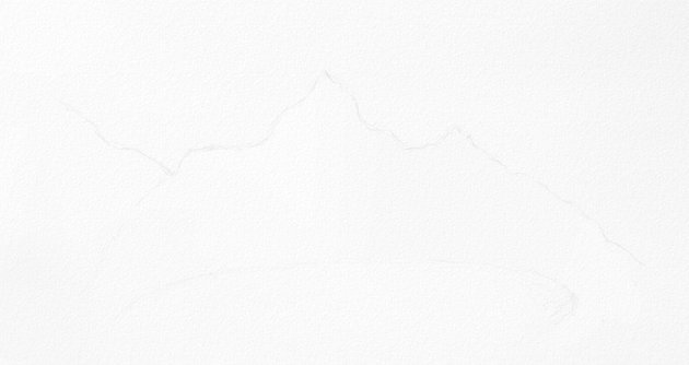 how to draw outline of mountains