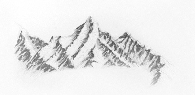 how to shade the mountains