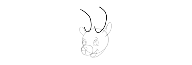how to draw simple antlers