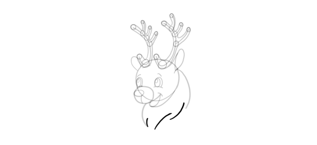 how to draw reindeer mane