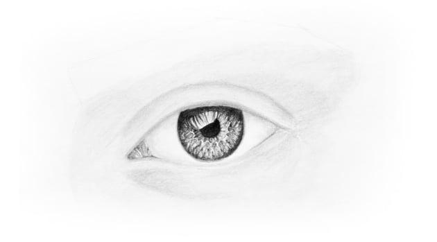 shade the skin aroudn the eye