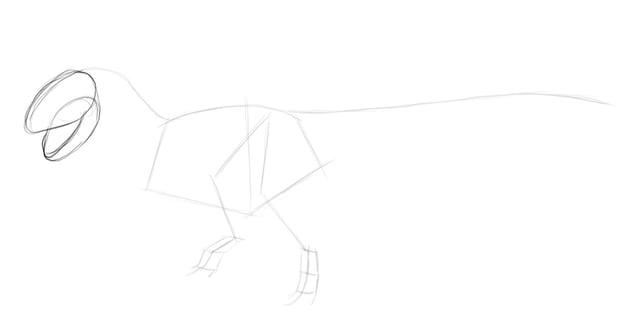 sketch dinosaur head