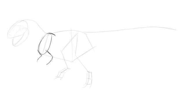 sketch dinosaur arms