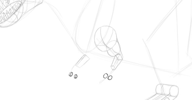 how to draw dinosaur fingers