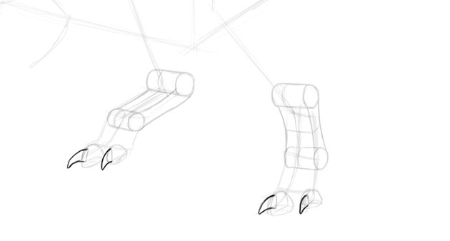 how to draw trex claws