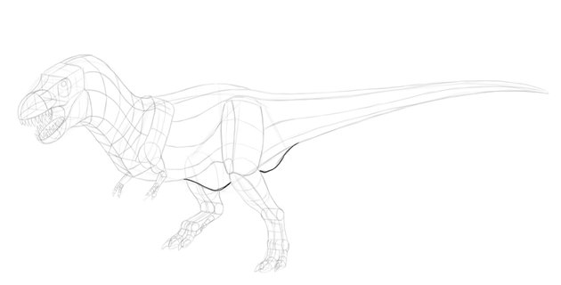 how to draw dinosaur hips